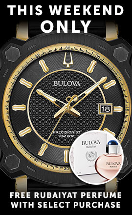 This Weekend Only Bulova  Free Rubaiyat Perfume with Select Purchase 678-582 Bulova Men's 45mm Precisionist Grammy Edition Quartz Mesh Stainless Steel Bracelet Watch