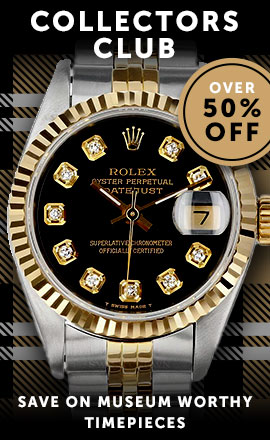 Collectors Club: Save On Museum Worthy Timepieces Over 50% Off  686-825 Pre-Owned Rolex Women's Datejust 26 Diamond Acct 18K Yellow Gold Fluted Bezel Jubilee Bracelet Watch