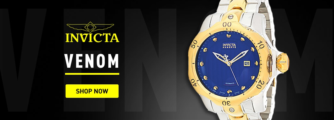 Invicta Venom 674-054 Invicta Reserve Men's 52mm Venom Heritage Swiss Made Automatic Ltd Ed Diamond Accented Watch