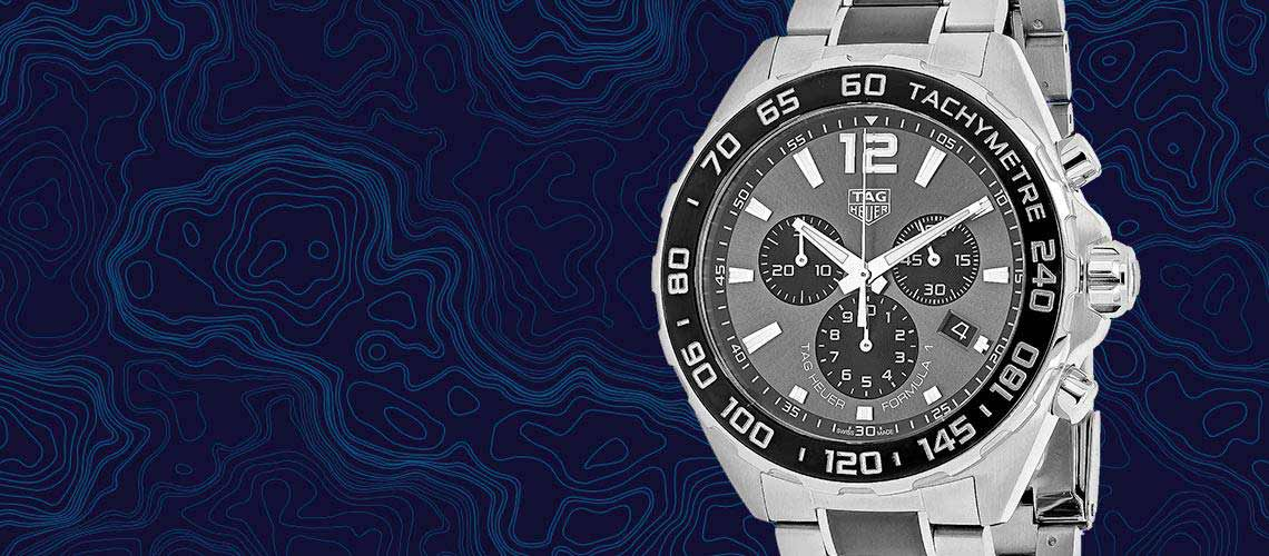 669-723 Tag Heuer Men's 45mm Formula 1 Swiss Made Quartz Chronograph Date Two-tone Bracelet Watch