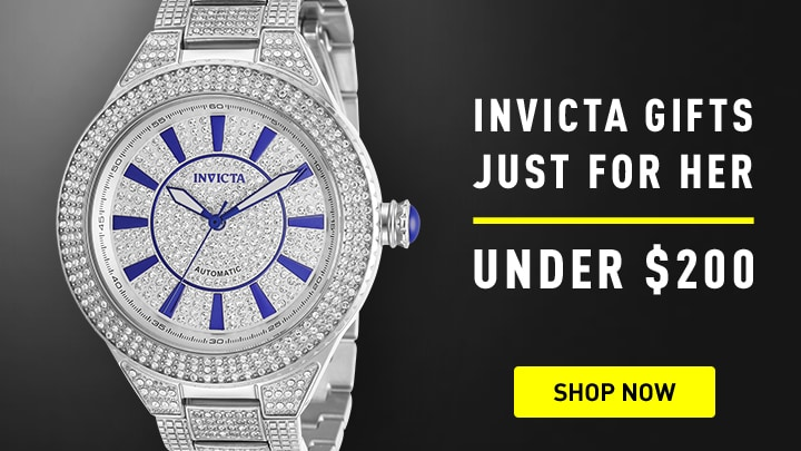 Invicta Gifts for Her at ShopHQ 674-043 Invicta 38mm or 44mm Specialty Next Gen Automatic Crystal Accented Bracelet Watch