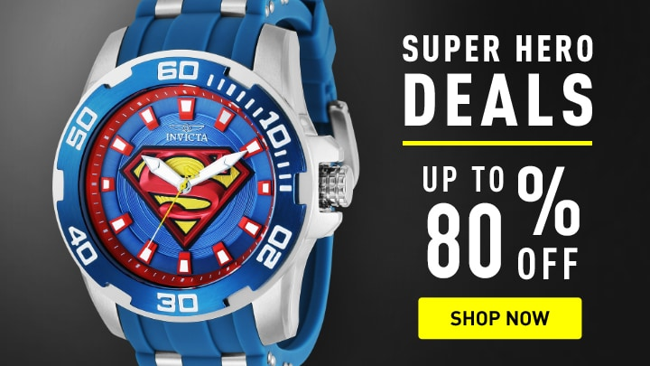 Invicta Super Hero Deals Up to 80% Off at ShopHQ