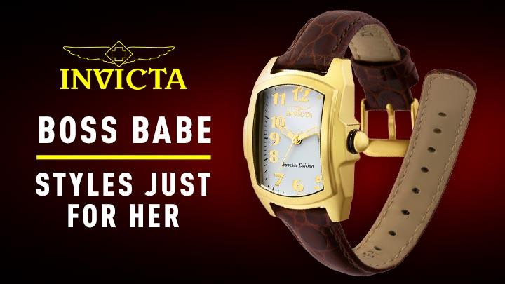 677-894 Invicta Women's Baby Lupah Quartz Watch w 7-Piece Leather Strap Set