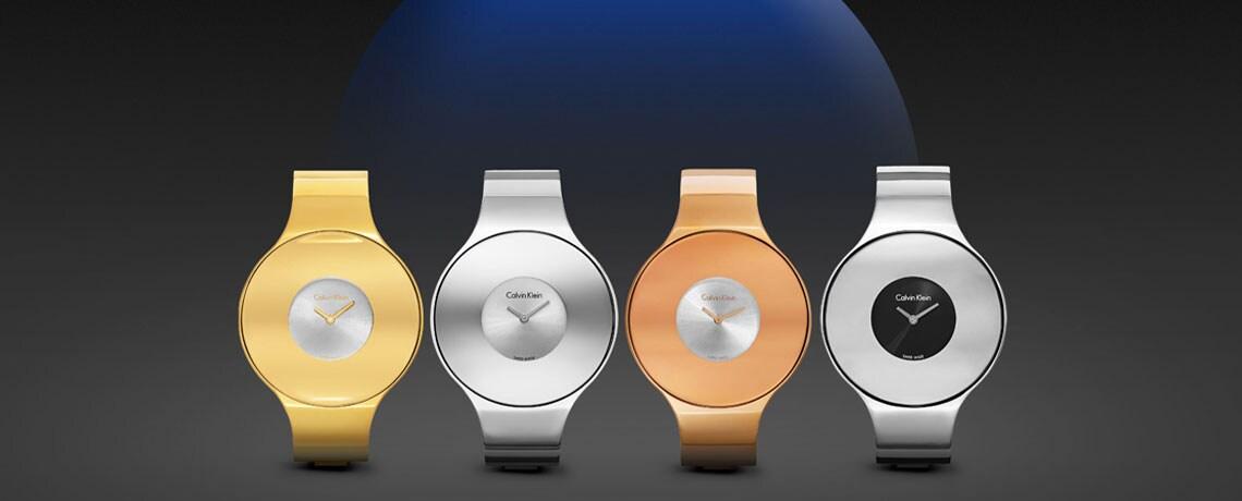 670-900 Calvin Klein Women's Seamless Swiss Made Quartz Stainless Steel Bracelet Watch