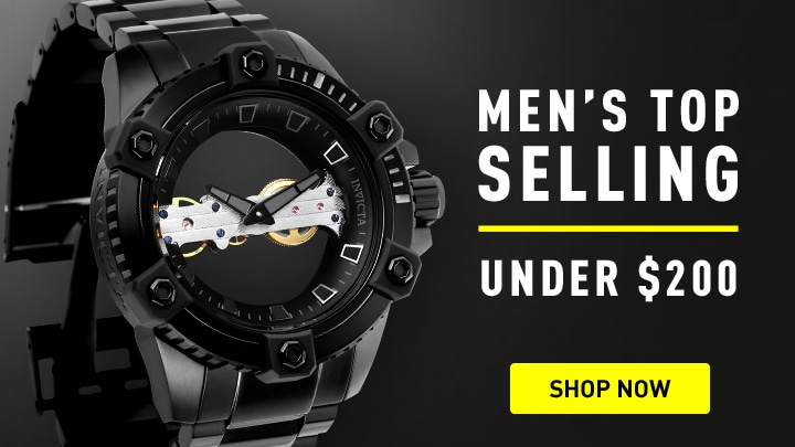 Invicta Men's Top Selling at ShopHQ 677-127 Invicta Men's 48mm Octane Ghost Ltd Ed Mechanical Stainless Steel Bracelet Watch
