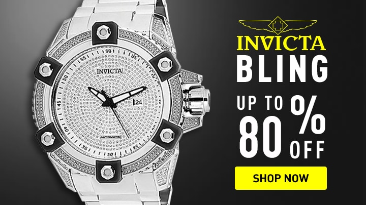 Invicta Bling Up to 80% Off at ShopHQ 676-842 Invicta Men's 56mm Grand Octane Ltd Ed Automatic 4.35ctw Diamond Bracelet Watch