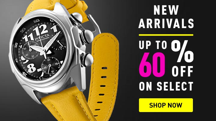 New Arrivals | 673-639 Invicta 46mm Lupah Diver Quartz Chronograph Leather Strap Watch