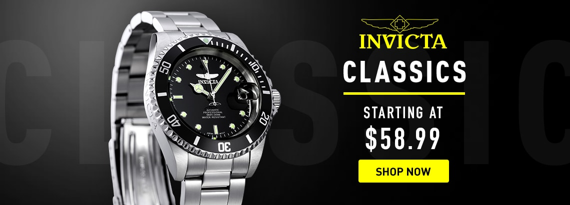 Invicta Classics starting at $58.99 at ShopHQ 678-501 Invicta 40mm Pro Diver Automatic Stainless Steel Bracelet Watch