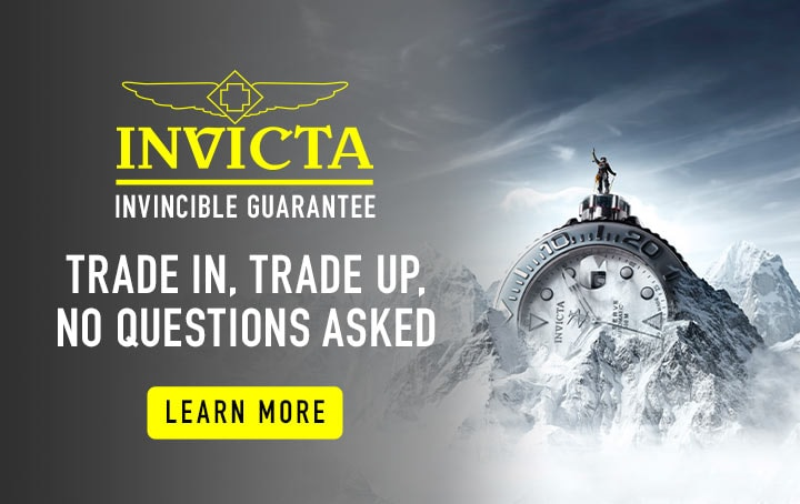 Invicta Invincible Guarantee  Trade In, Trade Up, Replace   Learn More at ShopHQ