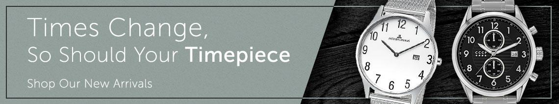 Times Change, so Should Your Timepiece Shop Our New Arrivals at ShopHQ  679-543 Jacques Lemans Men's 38mm Classic Quartz Date Mesh Stainless Steel Bracelet Watch 679-563 CCCP Men's 43mm Golden Soviet Submatine Quartz Chronograph Stainless Steel Bracelet Watch