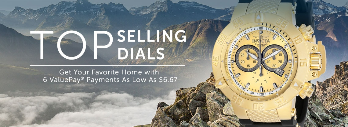 Top Selling Dials Get Your Favorite Home w 6 ValuePay® Payments As Low As $6.67 -  633-045 Invicta 50mm Subaqua Noma III Swiss Quartz Chronograph Polyurethane Strap Watch