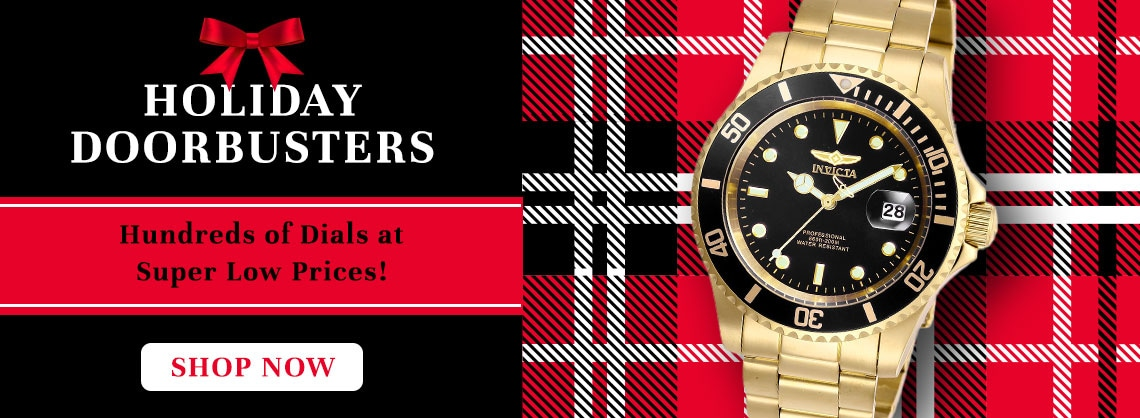 Holiday Doorbusters Hundreds of Dials at Super Low Prices! - 661-518 Invicta 40mm Pro Diver Quartz Magnified Date Window Stainless Steel Bracelet Watch