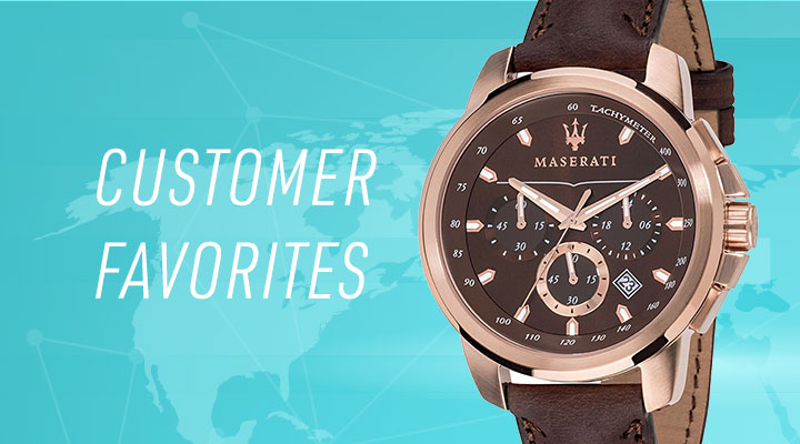 682-001 Maserati 44mm Successo's Quartz Chronograph Date Leather Strap Watch