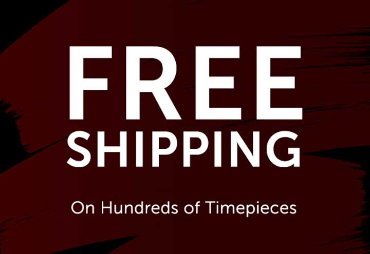 Free Shipping On Hundreds of Timepieces