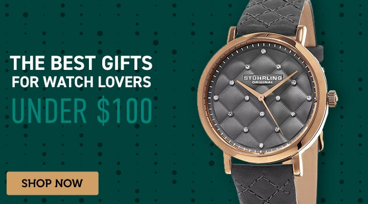 The Best Gift For Watch Lovers Under $100 - 634-979 Stührling Original Women's Audrey 462 Quartz Crystal Accented Leather Strap Watch
