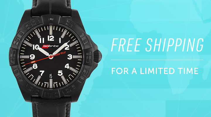 Free Shipping For A Limited Time -  683-901 Isobrite 49mm Executive Series Automatic Date Stainless Steel Bracelet Watch
