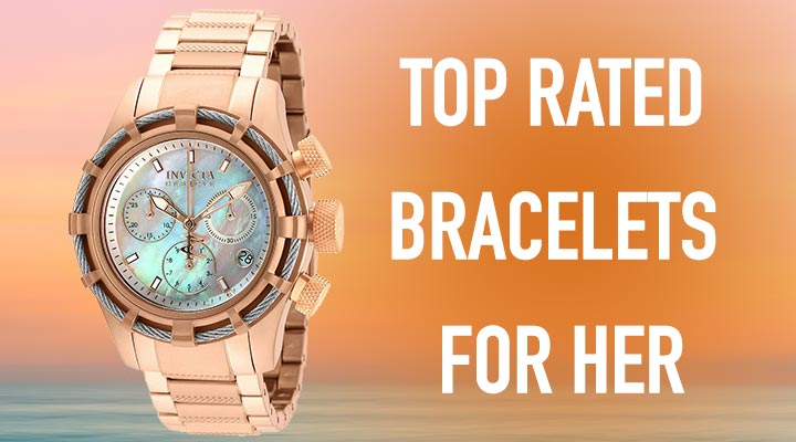 Top Rated Bracelets For Her | 676-275 Invicta Reserve Women's Bolt Swiss Quartz Chronograph Bracelet Watch