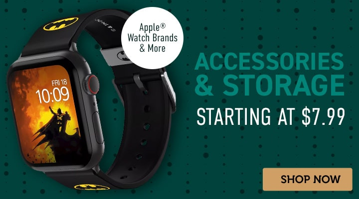Accessories and Storage  Starting at $7.99 - 498-337 Moby Fox Batman Icon Strap for Apple® Watch
