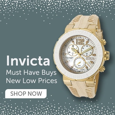 Invicta Must Have Buys New Low Prices at ShopHQ 673-586 Invicta Women's Ocean Reef Quartz Diamond Accented Mother-of-Pearl Dial Leather Strap Watch