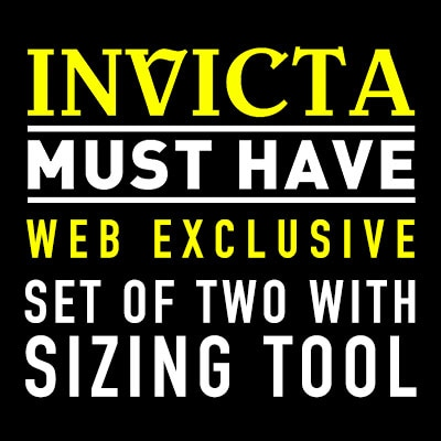 Invicta  Mush Have Buy Web Exclusive Set of Two With Sizing Tool