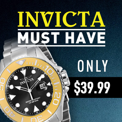 Invicta Must Have Buy Only $39.99 - 682-563 Invicta Men's 50mm Pro Diver Quartz Date Stainless Steel Bracelet Watch