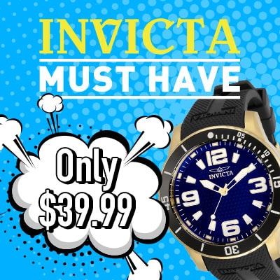 Invicta Must Have Only $39.99 678-853 Invicta Men's 48mm Specialty Swiss Quartz Black Silicone Strap Watch