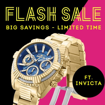 Flash Sale Ft. Invicta Big Savings - Limited Time  - 657-985 Invicta 40mm or 52mm Bolt Viper Quartz Chronograph Stainless Steel Bracelet Watch