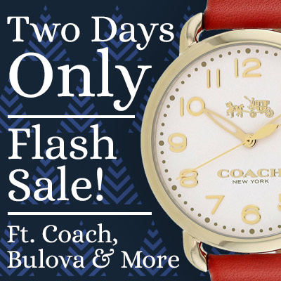 Two Days Only Flash Sale! Ft. Coach, Bulova & More 663-495 Coach Women's Delancey Quartz Red Leather Strap Watch