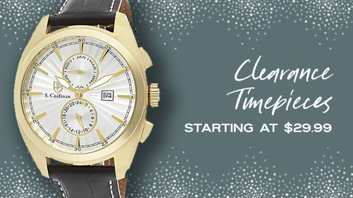 Clearance Timepieces Starting at $29.99 at ShopHQ 659-214 S. Coifman 44mm Noble Quartz Multi Function Leather Strap Watch