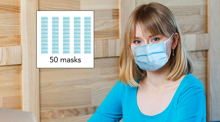 002-736 Medic Therapeutics 50 Breathable Face Masks for Personal Use