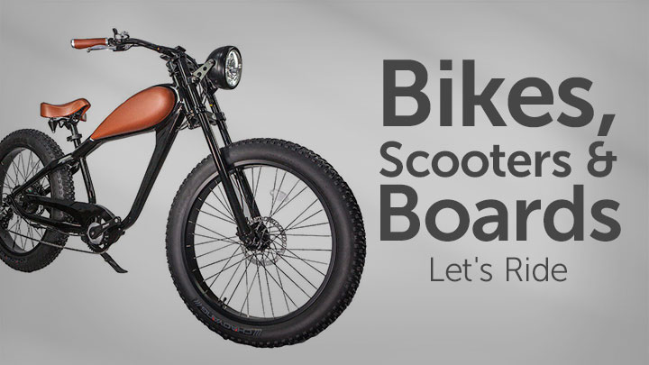 Bikes, Scooters & Boards Let's Ride 483-080 Glare EB-CH Fat Tire eBike w LCD Display