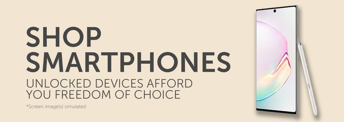 Shop Smartphones  Unlocked Devices Afford You Freedom Of Choice