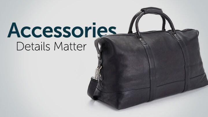 Accessories Details Matter 727-032 ROYCE New York Genuine Leather Top Handle Weekender Duffel Bag w Strap