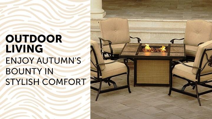 Outdoor Living Enjoy Autumn's Bounty In Stylish Comfort