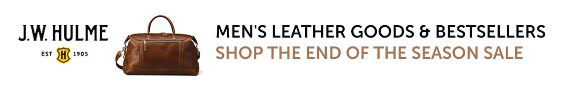J.W. HULME | Men's Leather Goods & Bestsellers - Shop the End of the Season Sale