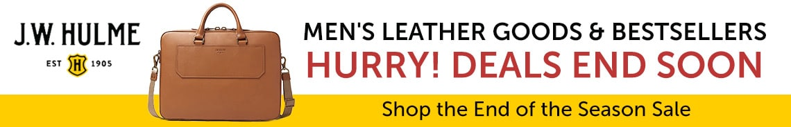 J.W. HULME | Men's Leather Goods & Bestsellers - Shop the End of the Season Sale - Hurry Deals End Soon