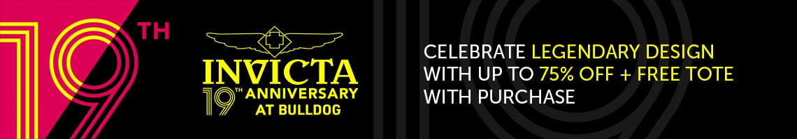 Invicta 19th Anniversary Celebrate Legendary Design with Up To 75% Off + Free Tote with Purchase