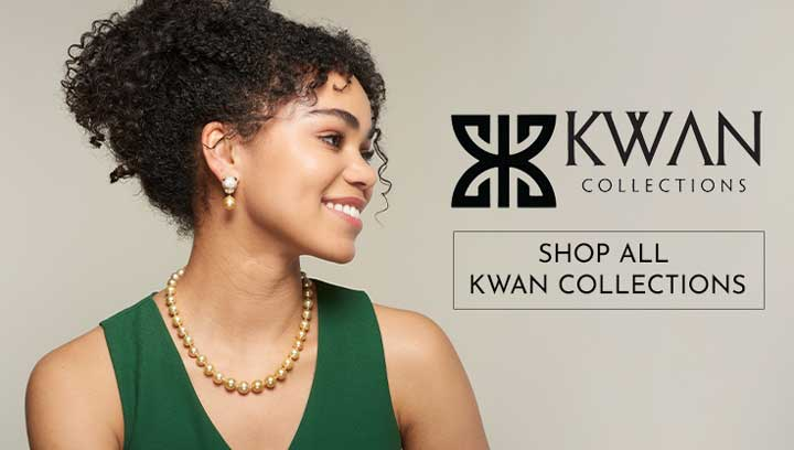 Shop all Kwan Collections - 170-049 Kwan Collections Choice of Size & Color Jade Slip-on Bangle Bracelet,  172-296 Kwan Collections 14K Gold 18 or 20 10-11mm Golden South Sea Cultured Pearl Graduated Necklace