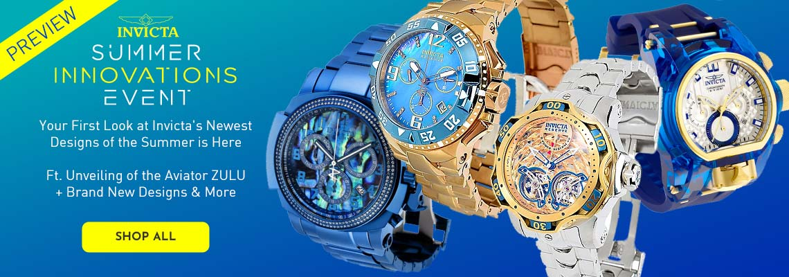 Invicta Summer Innovations Preview - Your First Look at Invicta's Newest Designs of the Summer is Here Ft. Unveiling of the Aviator ZULU + Brand New Designs & More