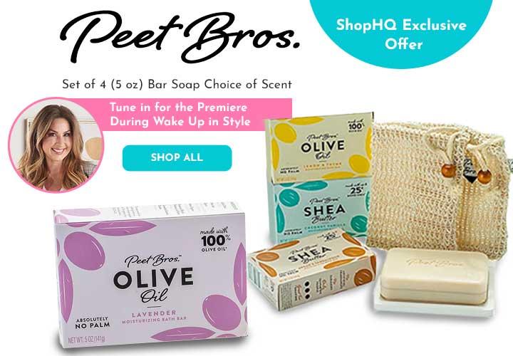 320-015 Peet Bros. Set of 4 (5 oz) Bar Soap Choice of Scent