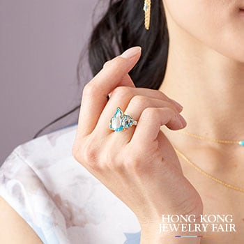 Hong Kong Jewelry Fair Encore Pricing Up To 50% Off - 191-985 Everyday Gems of Distinction™ 14K Vermeil Choice of Gemstone Elongated Pear & Half-Moons Ring