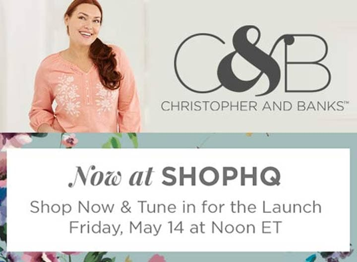 Now at ShopHQ  Christopher & Banks - Shop Now & Tune in for the Launch Friday, May 14 at Noon ET -  759-345 Christopher & Banks Embroidered Knit Henley Top
