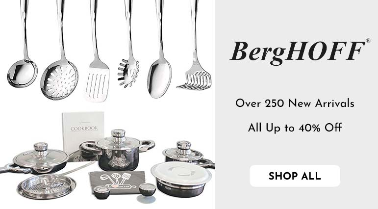BergHOFF TFK Gourmet Collection 15pc 1810 Stainless Steel Cookware Set