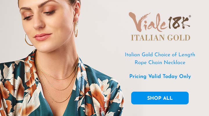192-140 Viale18K® Italian Gold Choice of Length Rope Chain Necklace