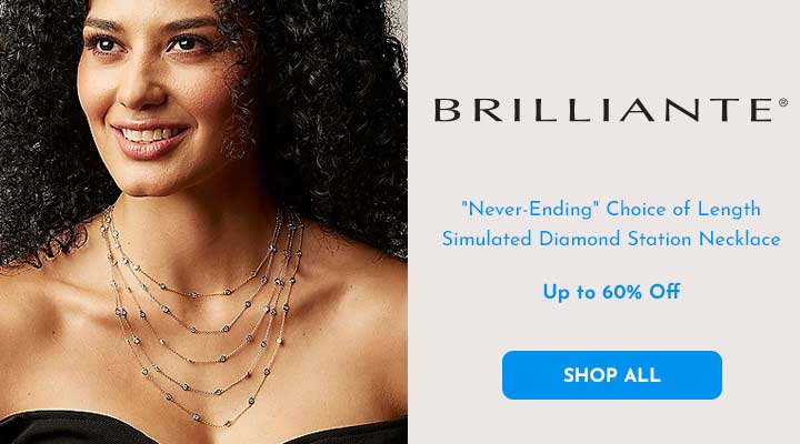157-543 Brilliante® Never-Ending Choice of Length Simulated Diamond Station Necklace
