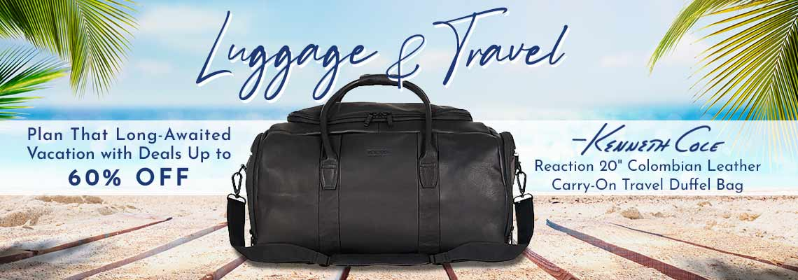 752-287 Kenneth Cole Reaction 20 Colombian Leather Carry-On Travel Duffel Bag