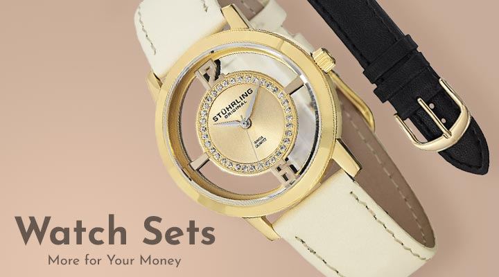 630-541 Stührling Original Women's Winchester Tiara Swiss Quartz Strap Watch w Additional Strap
