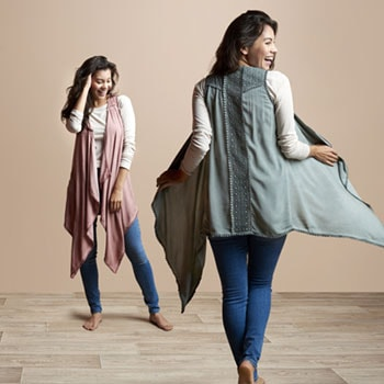 Indigo Thread Co. Free-Spirited, Cozy Vibes - 746-766 Indigo Thread Co.™ Knit Open Front Lace Detailed Crochet Trimmed Duster Vest