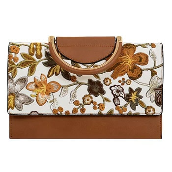 Handbags Under $40 These Bags Are Priced To Move - 749-669 Mellow World Primerose Floral Clutch w Removable Chain Strap