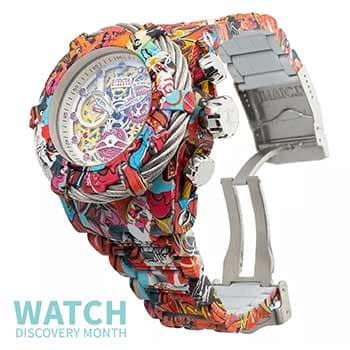 Watch Discovery Month Wide Selection of Prices & Designs -  682-705 Invicta Men's 52mm Grand Bolt Zeus Graffiti Swiss Quartz Hydroplated Watch